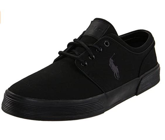 Polo Ralph Lauren Men's Faxon Low Sneaker black/black/black size 7